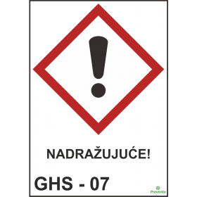 GHS - 07 Nadražujuće