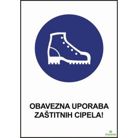 Obavezna uporaba zaštitnih cipela