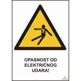 Opasnost od električnog udara OP-012