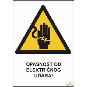 Opasnost od električnog uudara OP-014