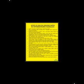 Upute za rad na siguran način na četverostranoj blanjalici