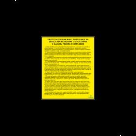 Upute za siguran rad i postupanje sa zapaljivim tekućinama i plinovima