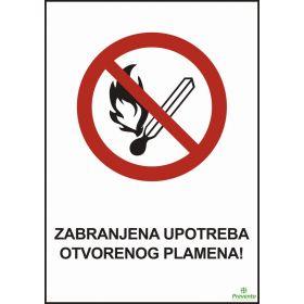 Zabranjena upotreba otvorenog plamena