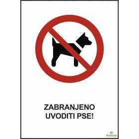 Zabranjeno uvoditi pse