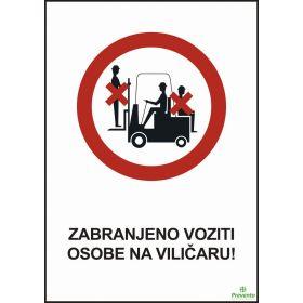 Zabranjeno voziti osobe na viličaru
