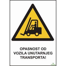 Opasnost od vozila unutarnjeg transporta
