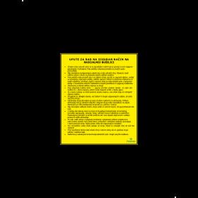 Upute za rad na siguran način na radijalnoj bušilici