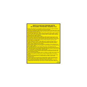 Upute za rad na siguran način na poteznoj poprečnoj kružnoj pili