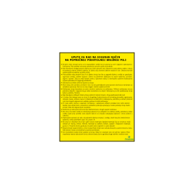 Upute za rad na siguran način na poprečnoj podstolnoj kružnoj pili
