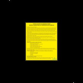 Upute za rad na siguran način - bušeća garnitura za horizontalno bušenje