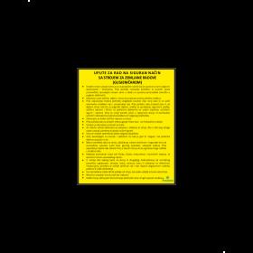 Upute za rad na siguran način sa strojem za zemljane radove (gusjeničarom)