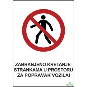Zabranjeno kretanje strankama u prostoru za popravak vozila