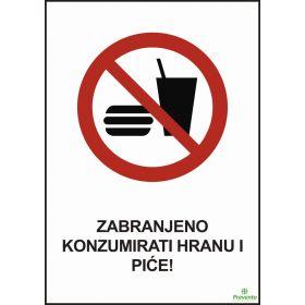 Zabranjeno konzumirati hranu i piće